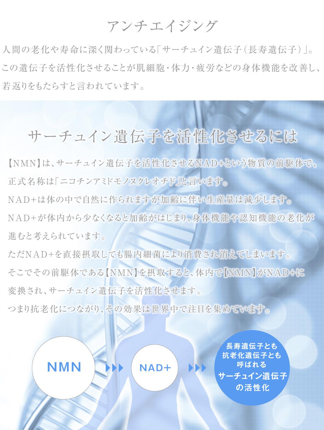 NMNでアンチエイジング